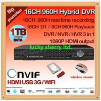 Wholesale Home Security Cctv 16ch - CIA-home surveillance 16ch full 960H D1 security wifi DVR, HDMI 1080P 16 channel DVR NVR ONVIF CCTV video DVR Recorder,HI3531 ,HDD
