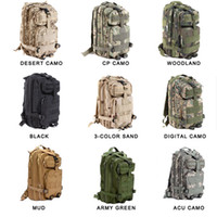 Wholesale Large Military Backpacks - Large Capacity 30L Hiking Camping Bag Army Military Tactical Trekking Rucksack Backpack Camo storage bag