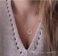Wholesale Womens Chunky Chain Necklace - Celebrity chokers necklaces gold round ring chunky necklaces womens jewelry