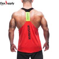 Wholesale Low Cut Vest Men - Wholesale-New Men's Vivid Gym Tank Tops Low Cut Armholes Vest Sexy Men's Tank Xman Muscle Man's Fitness Sport Suit