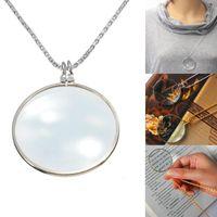 Wholesale Halloween Accesories - 5Pcs Lot Mix Lot Women Fashion Jewelry Decorative Monocle Necklace Metal Accesories Magnifier Magnifying Glass Pendant