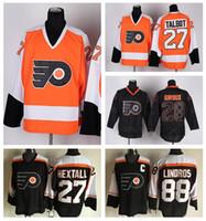Wholesale Philadelphia Home Jersey - Philadelphia Flyers Hockey Jerseys Ice 27 Ron Hextall 88 Eric Lindros Sport Jersey 28 Claude Giroux Home Alternater Black Orange