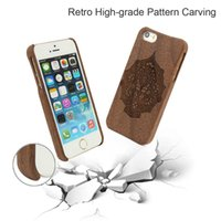 Wholesale I Phone 5s Case New - Original Whole Wood Cover for iPhone 5 5s se U&I Rosewood Mobile Phone Case Blank Wood New Coque Custom Protector