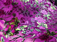 Wholesale Silk Velvet Cloth - Sold by one yard Fashion african velvet lace fabric for Wedding Dress,Purple velvet Silk fabric for lady cloth