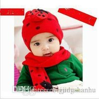 Wholesale South Korean Men Street Fashion - 2016 new arrival hot sell high quality South Korean popular children's Beetle hat and Scarf 2 piece suit sell