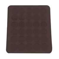 Wholesale shaped macaron mats resale online - Practical cavity Silicone Pastry Cake Macaron shape DIY mould Oven Baking pastry Mould Sheet Mat