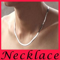 Wholesale Weddings Deals - Factory Direct Deal 925 Sterling Silver Chains Smooth Snake Chain For Men Necklace Lobster Clasps Necklaces Clasp Platinum Plated