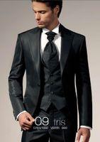 Wholesale Men S Wedding Suit Back - Free shipping Three piece Suit grooms mens suits men s wedding suits mens tuxedo pants jacket vest men wedding suit high quality