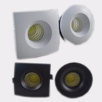 Wholesale Miniature Cabinet - 3W Mini LED Downlights Round Square LED Under Cabinet Mini spot downlight Foyer micro miniature Spot Downlight 110V 220V 12V
