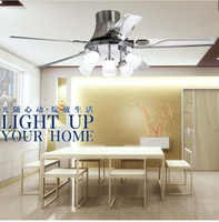 Wholesale contemporary dining room ceiling lights resale online - home living room fan light chandelier dining room remote control fan lights inch ceiling chandelier fan light LED