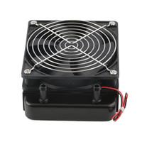 ventiladores de enfriamiento para pc al por mayor-El radiador más nuevo del cambiador de calor de la fila del refrigerador de la CPU de la refrigeración por agua de 120m m con el ventilador para la PC