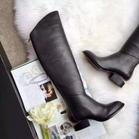 Wholesale Shoes Soft Inside - Original thigh boots special way shoes import cowskin vamp sheepskin inside italia genuine leather tread heel high 4cm boot high 42cm