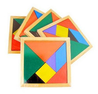 Wholesale Intellectual Toys - Collectibles colored wooden jigsaw puzzle jigsaw puzzle shape cognitive intellectual development of children's toys Enlightenment DHL030