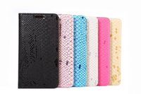 Wholesale Transparent Snake - S7 Elegant Snake skin grain leather Cover Case for SAMSUNG GALAXY S7   UCKY   SM-G930A   SM-G9300   G930   JUNGFRAU  Case