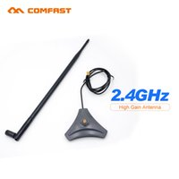 Wholesale High Gain Wifi Sma Antenna - Wholesale- 2.4G high gain wifi antenna sma antenna Comfast CF-ANT2410I-SAM 10 dbi wireless wifi directional antenna for network card router