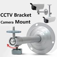 ingrosso staffa di supporto della telecamera cctv-Monitoraggio telecamera Staffa Cctv Staffa di sicurezza in metallo CCTV Camera Accessori Supporto da soffitto a soffitto Staffa da DHL