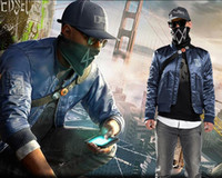 Game <b>Watch Dogs</b> 2 Marcus Holloway Jacket a maniche lunghe da uomo Inverno caldo Cappotto M-3XL