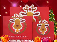 Wholesale Gift Bags Paper Big - DHL & SF_EXPRESS CHRISTMAS Gift paper Bags Flower Paper Gift Bags for Food Packaging Christmas ELK Bag BIG SIZE Christmas gift Paper Bags