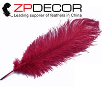 Wholesale Natural Dyed Feather - Wholesale in ZPDECOR Feathers Factory 45-50cm(18-20inch) Good Quality Dyed Natural Colorful Ostrich Feather for Mardi Gras Costume