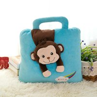 Wholesale 3d Bedding For Boys - 3D Monkey Blankets for Girls Boys Summer Throw Blanket Cushion on Bed, 2 in 1 New Air Conditioning Blanket Pillow Summer Gift