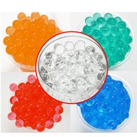 Wholesale Jelly Crystals Balls Wholesale - Hydrogel Balls Growing Water Balls Pearl Shape Water Beads Crystal Gel Aqua Jelly Beads Grow Crystal Soil For Flower Home Decor OTH059