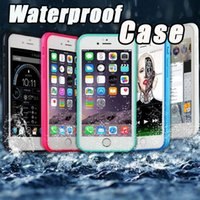 Wholesale I Phone Waterproof Case - Waterproof Case soft TPU 360 Degree Swimming Shockproof Underwater Diving full Body Screen Protector For i phone X 7 8 Plus Samsung Note8