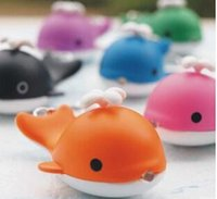 Livraison gratuite Animal Cartoon ZOO Whale LED Lampe de poche Keychain Keyring With Sound Toys Kids Gift