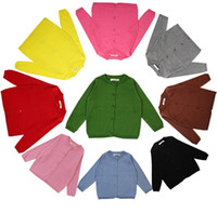 Wholesale Infant Girl Cardigans - 2018 Cotton Knited Cardigan Boys Girls Baby Childrens Sweaters Clothing Spring Autumn Long Sleeve Infant Kids Tops Boutique Clothes