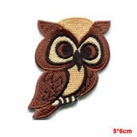 Wholesale Hoot Kid - Owl bird of prey hoot animal wildlife applique iron-on cartoon kid patch new