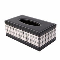 Vente en gros - Cuir PU Tissue Box Holder Pour Home Office Car Rectangulaire Multi-motif