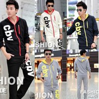 Wholesale Cbv Clothing - 2015 Top brand new men's clothing casual tracksuits CBV print hoodies spring and summer sweatshirts M-XXL