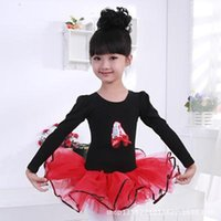 Wholesale Dance Ballet Long Tutus - classical ballet tutu Stage Wear Children long-sleeved ballet skirt girls dress children dance clothes and costumes performing service
