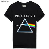 Wholesale Street Clothes Wholesale - Wholesale- Brand Mens Clothing Cotton T shirt 3D Print Letter Short Sleeve T shirts Pink Floyd Homme Funny T-shirt Street wear Hip Hop Tops