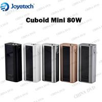 Wholesale Electronic Cigarette Display Box - Original Joyetech Cuboid Mini 80W TC Box Mod 2400mAh Buit-in Battery OLED Display Electronic Cigarettes Fit Aspire Atlantis V2.0 Nautilus