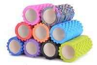 Wholesale Black Baton - Wholesale-Yoga hollow foam Yoga column foam roller relax Pilates column balance baton EVA Yoga circle ring sports fitness F153