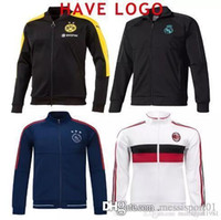 Wholesale Uniforms Jackets - 17 18 Club America Jacket Soccer Jersey Retro Football Shirts Equipment Long Sleeve Man tracksuits AC milan Real Madrid Ajax jacket Uniform