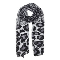 Wholesale Warm Animal Print Scarves - fashion women scarf simple light rendering winter warm scarves close to skin stripe large Leopard SF880