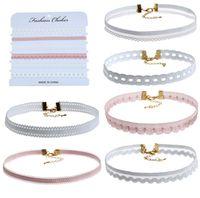 Wholesale Neck Chains For Sale - 6pcs set Lace Choker Necklaces Torques Multi-Style Mix Neck Chain for Ladies Fashion Jewelry on Sale