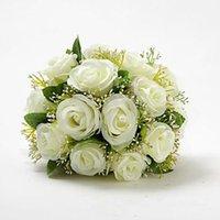 Wholesale Sell Wedding Bouquets - Bridal Wedding Bouquets Wedding Bouquet Flowers Best selling Beautiful Elegant Round Shape Satin Wedding Bouquet
