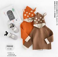 Wholesale New Fashion Baby Deers - 2016 NEW Autumn winter children baby fashion cartoon deer sweater coat NY0-80