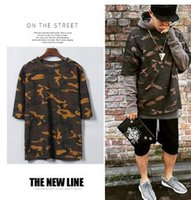 Wholesale Shirt Spots Woman - Kanye WEST Spot Season 1 T-Shirt Lovers Loose Camouflage Short-Sleeved T-Shirt Trend Of Men And Women Sleeve T-Shirt