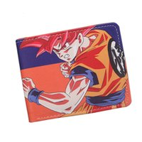 Wholesale Black Anime Characters - New 2016 Fashion Dragon Ball Z Wallet Japanese Anime Son Goku Genki Dama Shenron Cartoon Wallet Purse Wholesale Short Wallet For Men Women
