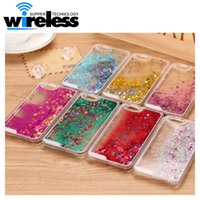 Wholesale Iphone5 Case Glitter Bling - 2016 Colorful Moving Shining Stars Liquid Glitter Quicksand 3D Bling Phone Case Cover For Samsung S6 S7 edge iphone5 5S 6 6s 6plus