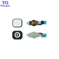 Wholesale iphone 5c buttons - Black & White For iphone 5 5G 5C Home Button Flex Cable Bracket Holder Key Ribbon Cable Parts Replacement