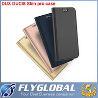Wholesale Note Flip Battery Cover - For iphone X iphone 8 Plus Original DUX DUCIS Ultra Thin Wallet Case Slim Flip Leather Wallet Skin Cover For note 8 Samsung S8 plus