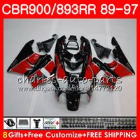 Wholesale honda fairings resale online - CBR RR For HONDA red black CBR900RR CBR893RR HM10 CBR893 RR Fairing