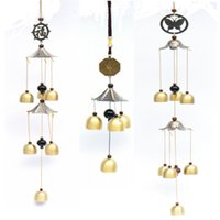 Wholesale Large Bells - Large Wind Chimes Bells Copper Tubes Outdoor Yard Garden Home Decor Ornament New