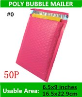Wholesale Pink Mail Bags - KANA PACK [PB#0]- Pink 6.5X9inches   165X229MM Usable space Poly bubble Mailer envelopes padded Mailing Bag Self Sealing