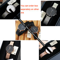 Wholesale leather watch red face for sale - Group buy Best Quality mm mm Women Watch White Face Black Face Rose Gold Silver Leather Nylon Metal Strap Ladies Watches