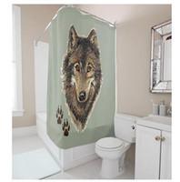 Animal Series Custom Printed Shower Curtains   Customs W X H Inch Shower  Curtain Wolf Head